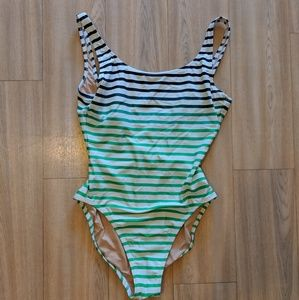 J Crew Ombre Striped One Piece Bathing Suit